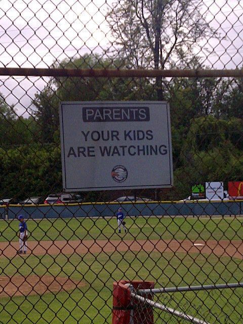 ooooooooh.                                                                                                   I love this!! This should be hung at every little league field!