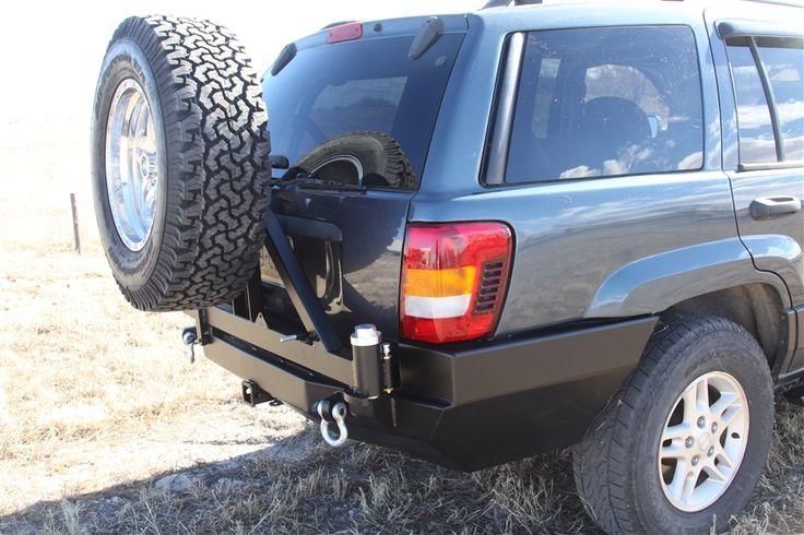 Rock Hard 4x4 Патриот серии заднего бампера ж / Шины перевозчик для Jeep Grand Cherokee WJ 1998 - 2004 [RH-7050]