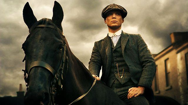 Peak Blinders on BBC: A gangster family epic set in 1919 Birmingham, Peaky Blinders centres on a gang who sew razor blades in the peaks of their caps, and their fierce boss Tommy Shelby, who means to move up in the world.