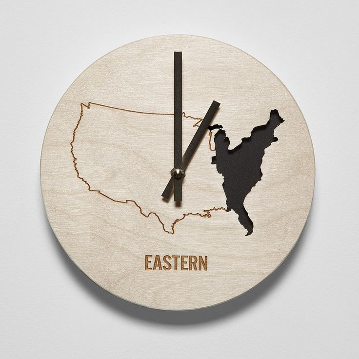 "8"" Eastern Time Zone Clock"