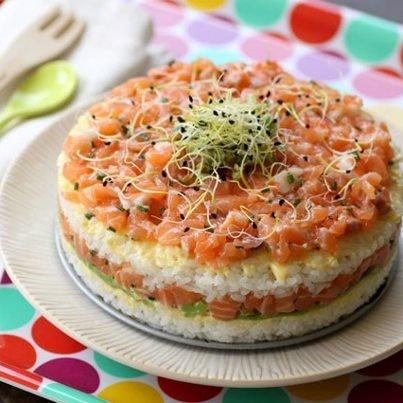 Sushi Cake!! Platillo con alto contenido de Omega 3