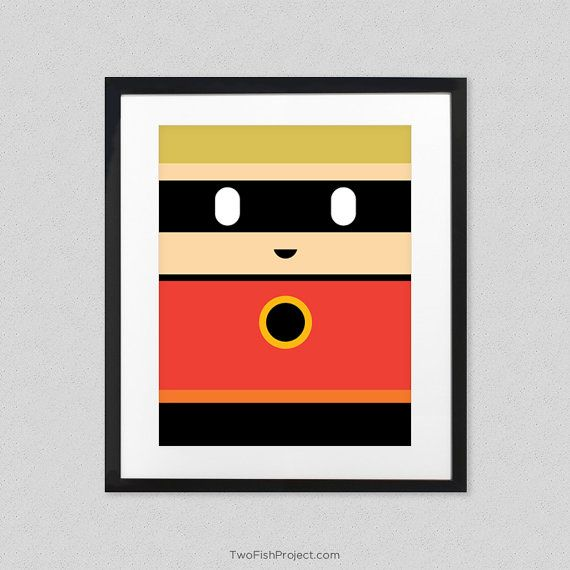 The Incredibles Poster for Kids Room or Nursery by TwoFishProject