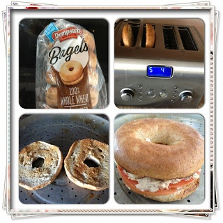 Kick Start your lunch with a Whole Wheat Bagel Tuna Melt from DomesticatedMomma.com