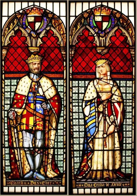 Richard Duke of York & Celica Duchess of York. By Thomas Willement (1786-1871).