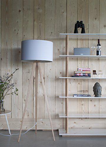 Zuiver 5000806 - Lámpara de pie, madera, color blanco: Amazon.es: Iluminación