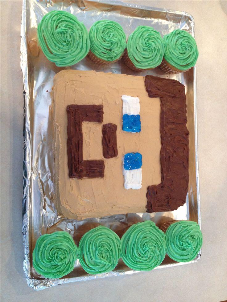 Awe Inspiring Minecraft Steve Birthday Cake Funny Birthday Cards Online Eattedamsfinfo