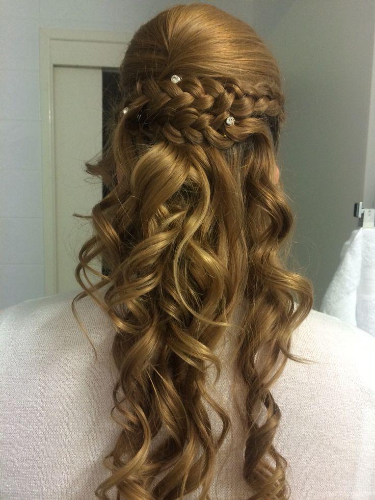 Braided curly pins