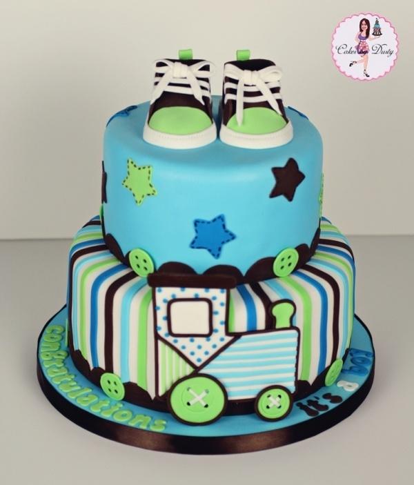 Beautiful Train Baby Shower Cake Part - 4: Train Baby Shower Cake