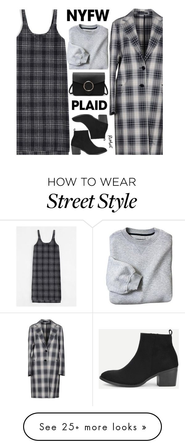 """Trend Spotting: Plaid"" by meyli-meyli on Polyvore featuring Tagliatore, romwe, contestentry and NYFWPlaid"