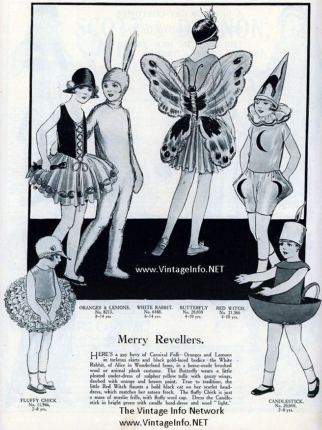 Children's Halloween Costumes from the 1920's #halloween #costume http://vintageinfo.net/childrens-halloween-costumes-from-the-1920s/