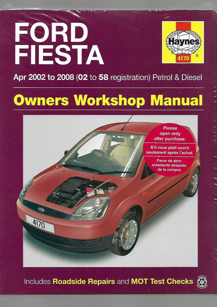 Haynes New Sealed Ford Fiesta Hatch Van Fusion Owners Workshop Manual Pet Drv Ford Fiesta Ford Repair