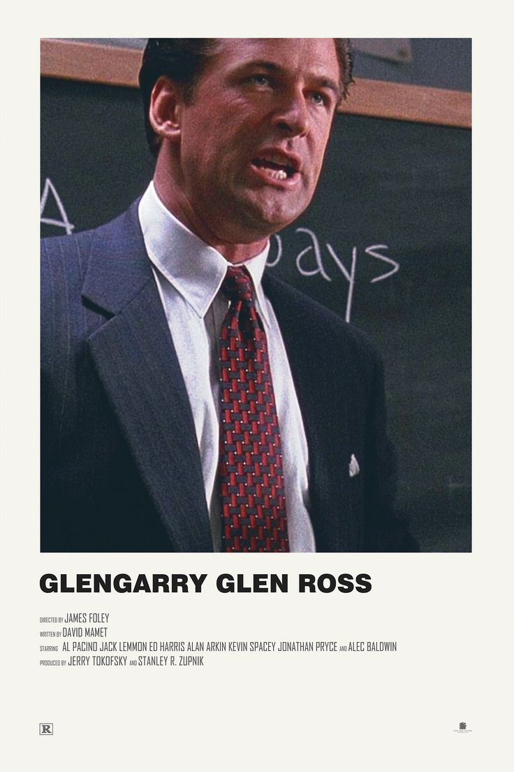 Glengarry Glen Ross alternative movie poster Visit my Store https://society6.com/andrewkwan