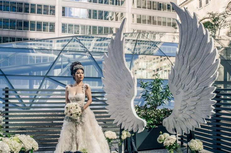 White Angel Wings photoshoot for the Wedluxe by Flowers Time