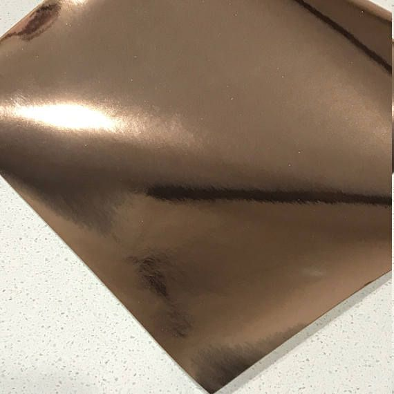 Rose Gold Mirrored Leatherette 0.8mm Thickness Mirror Rose