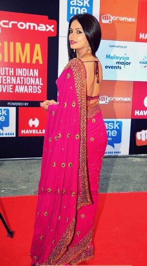 Neetu-chandra-saree-SIIMA-awards-2014