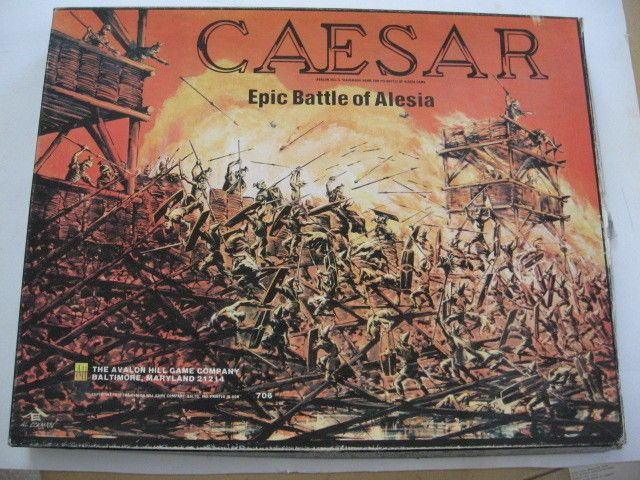 "VINTAGE AVALON HILL #706 ""Caesar"" Epic Battle of Alesia, 1976. #AvalonHill"