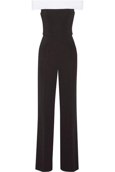 Roland Mouret - Neilson Off-the-shoulder Stretch-crepe Jumpsuit - Black - UK12