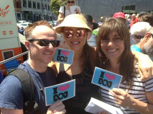 Tottie and Ally at the Save the ABC rally