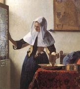 Young Woman with a Water Jug 1660-62  by Jan Vermeer Van Delft
