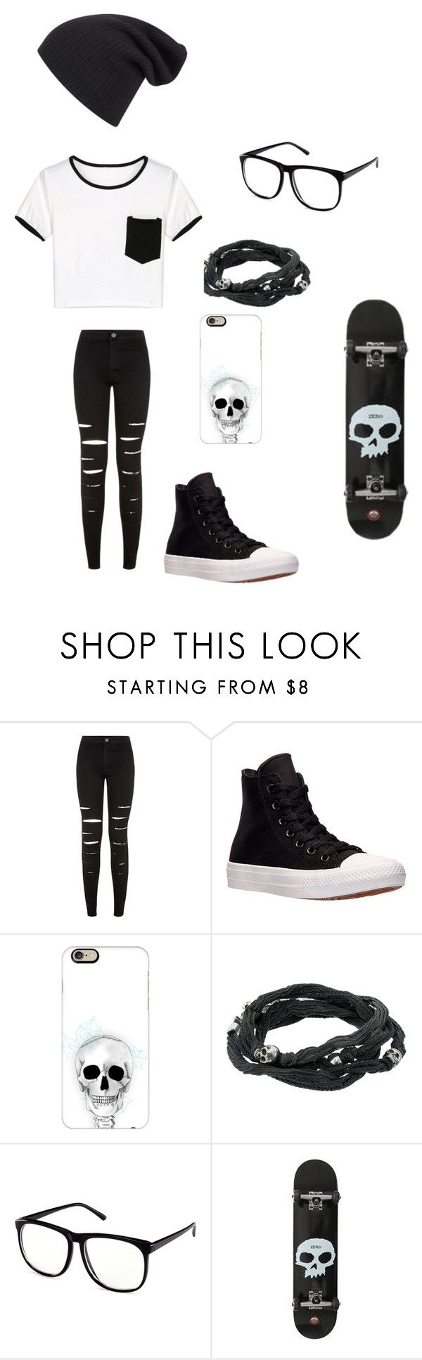 """""""Untitled #110"""" by darksoul7 on Polyvore featuring New Look, Converse, Casetify, King Baby Studio, H&M and WithChic"""