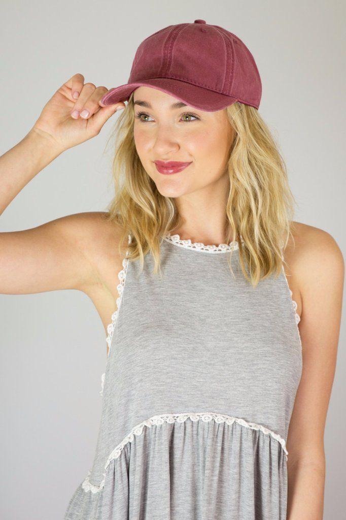 Mineral Wash Baseball Hat - Multiple Colors – Hazel & Olive