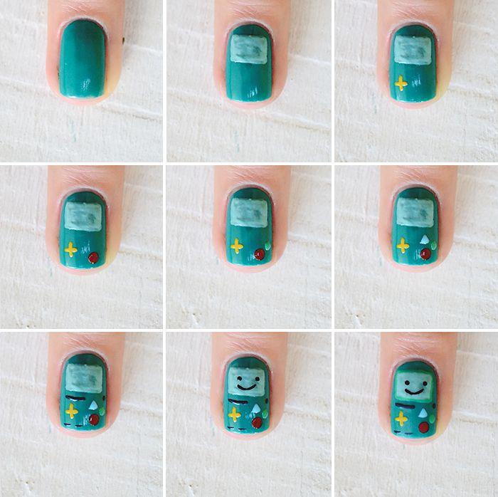 Nail art BMO - Tutorial