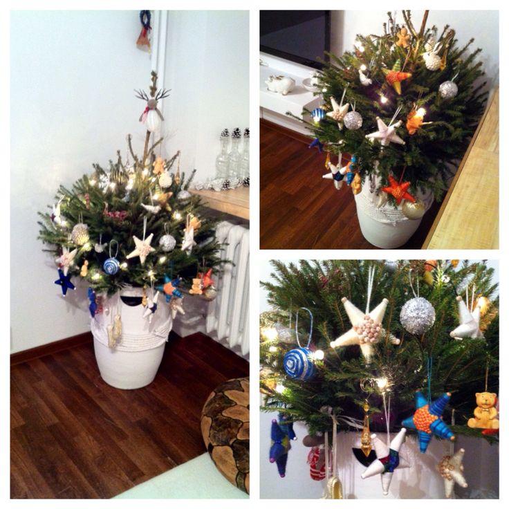 Christmas tree decorating ideas handmade / Choinka udekorowana ręcznie robionymi ozdobami.