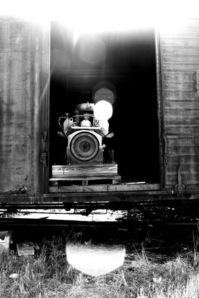 Train. Ogden Utah. Black and white. High Contrast. Photo by Harvey Brand Imagery
