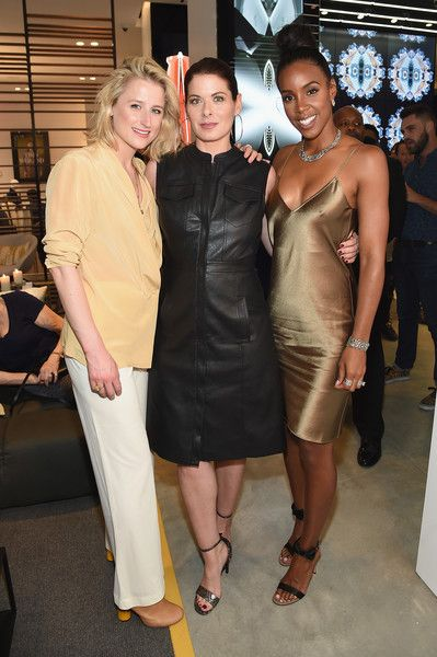 """Kelly Rowland Photos Photos - (L-R) Mamie Gummer, Debra Messing, and Kelly Rowland attend as Cadillac celebrates the grand opening of """"Cadillac House"""" on June 1, 2016 in New York City. - Cadillac Celebrates the Grand Opening of 'Cadillac House - New York'"""