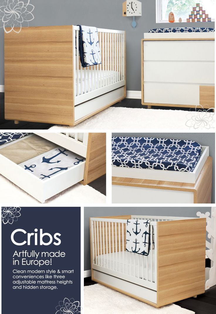 Baby cribs europe - Made In Europe Fsc And Reach Certified Nursery Furniture Clean Lines White Rails