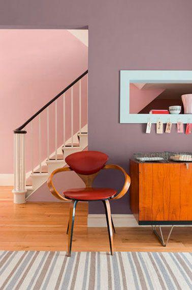 1000 id es sur le th me couleurs de peinture violet sur for Belle peinture pour un salon