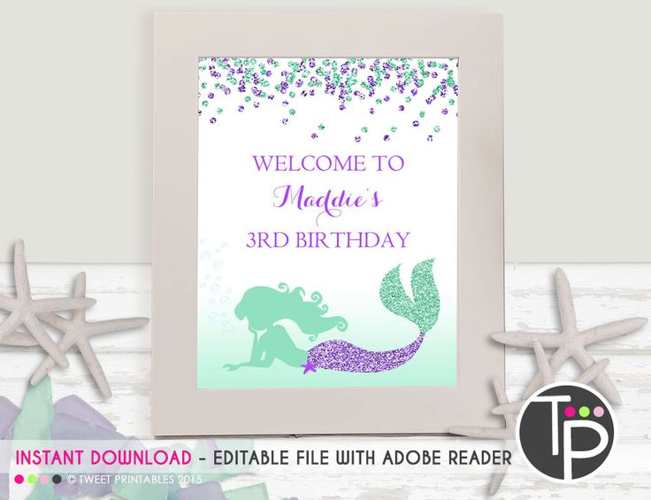 7 best Mermaid Party images – Mermaid Party Invitations Printable
