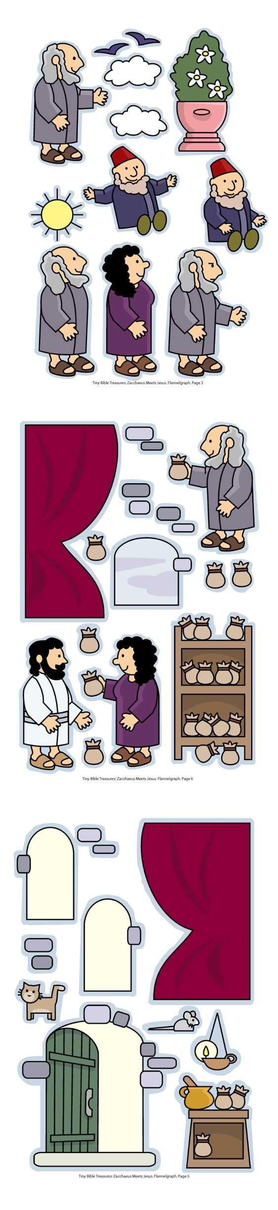 Zacheüs, flanelplaten voor kleuters, kleuteridee.nl , Zacchaeus, Flannel Bible Sheets, free printable 2