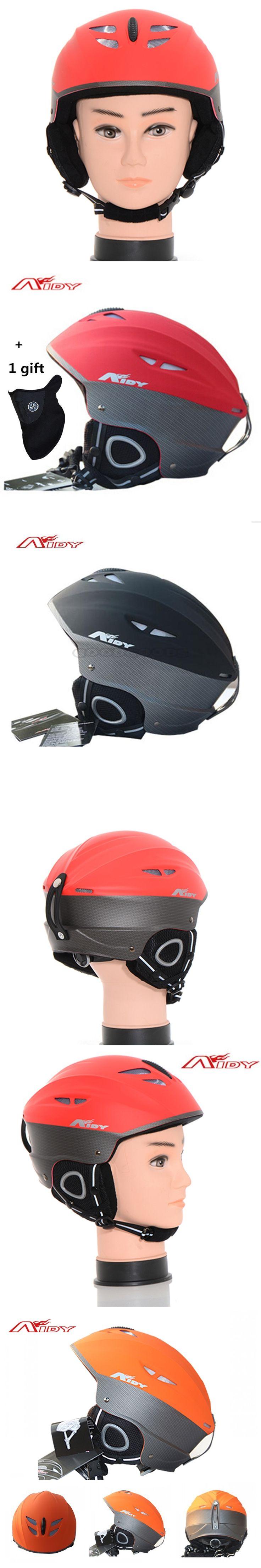 AIDY Brand Ski helmet outdoor sports Integrally-molded adjustable Snowboard snowmobile helmet kask Warm windproof Skating helmet