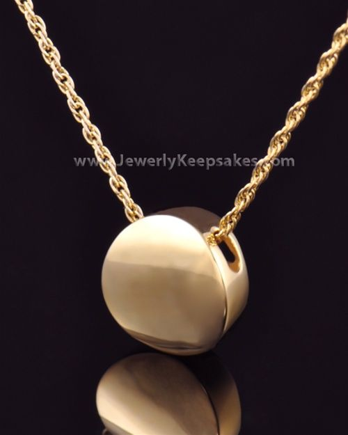 Cremation Jewelry Gold Plated Spherical Keepsake $109.99