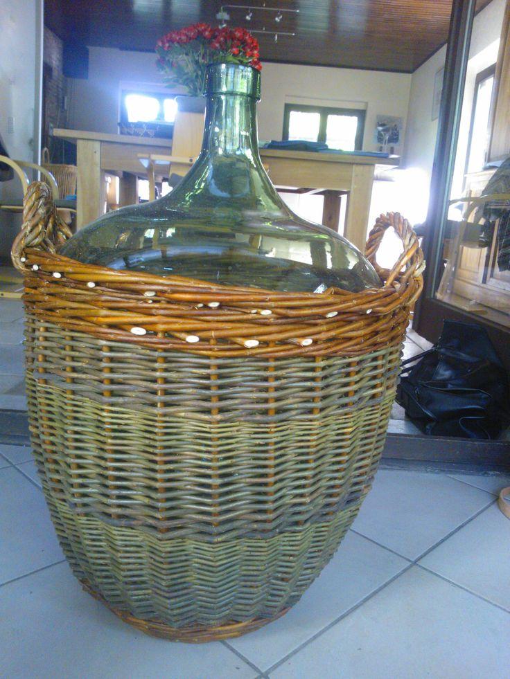 Willow Basket Weaving Dvd : Mand rond een fles mandenvlechten be eigen werk