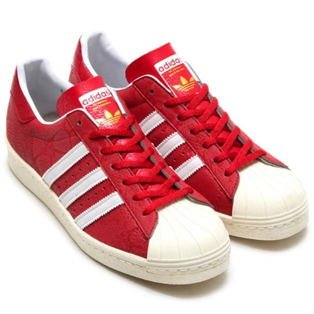 adidas superstar vintage rouge