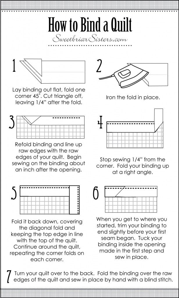 How to Bind a Quilt - Sweetbriar Sisters