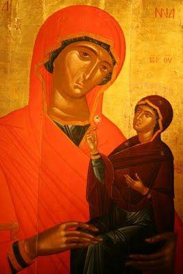 Angelos Akotantos ~ St. Anne and the Virgin, c. 1st half 15th century