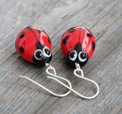 Ladybug ladybug earrings