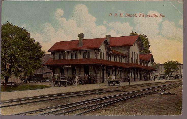 Titusville PA Pennsylvania Railroad Depot Train Station