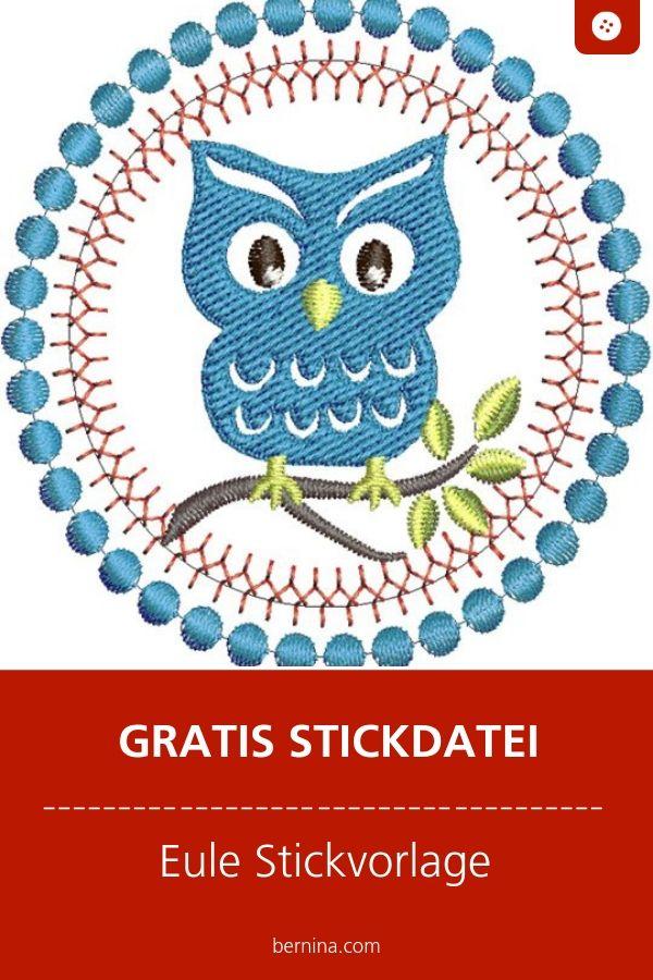 Owl embroidery file freebie