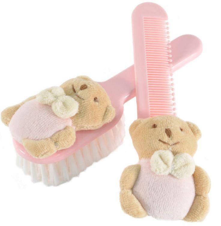 Cepillo y peine rosa