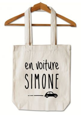 "Tote Bag ""En voiture Simone"""