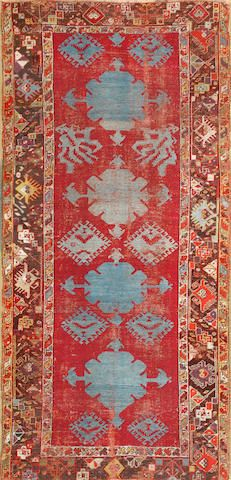 Kirshehir rug  Turkey  18th century  size approximately 3ft. 7in. x 7ft. 7in.