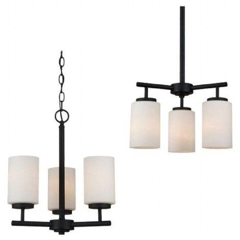 Luminaire en métal noir avec verres  blancs s'installe vers le haut ou vers le bas.