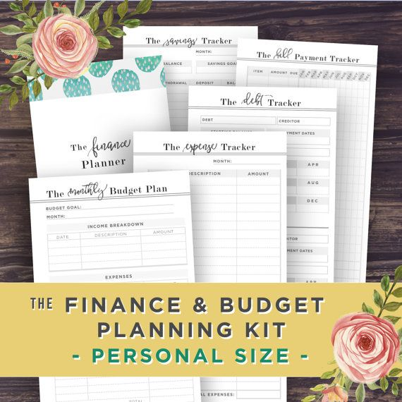 PERSONAL Inserts: Financial Planner by PrintablePineapple on Etsy
