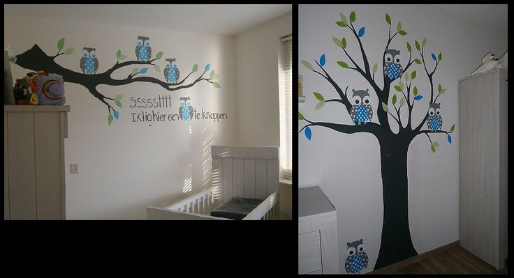 Uilenboom kinderkamer muur illustraties pinterest google search and html - Muurschildering volwassen kamer ...