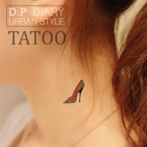 Waterproof tattoo stickers, colored high heels, disposable tattoo fake tattoos simulation High quality free shipping-inBody Paint from Beaut...