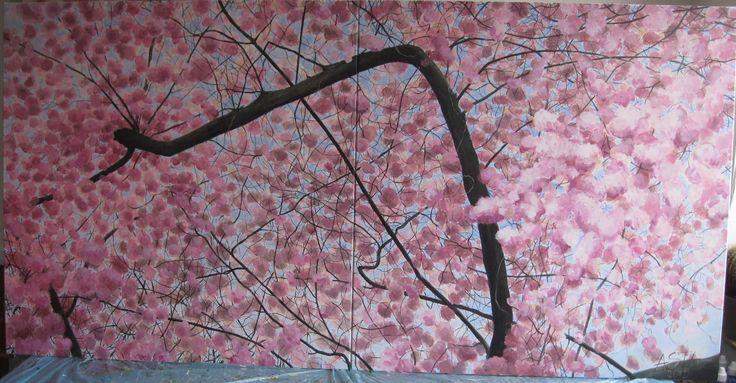 Diptych  Blossoms 2x100cmx100cm ©Asta Rudminaite 2015